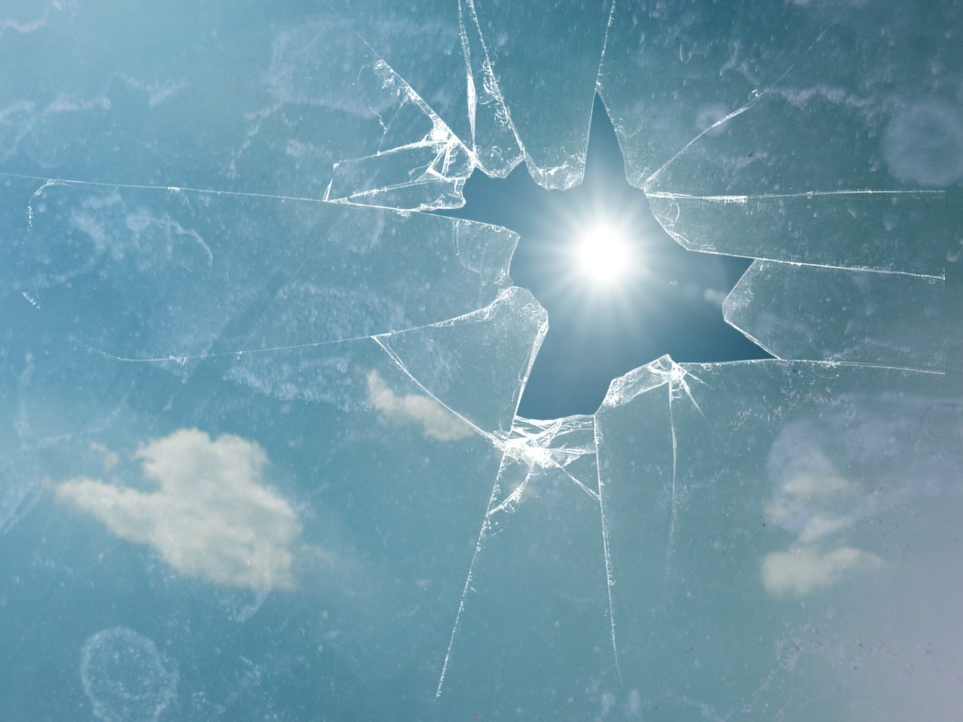 broken glass ceiling